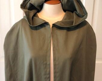 Clearance** Deep Olive/Military Green Hooded Cloak