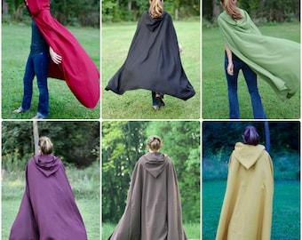 Linen Cloak - 6 Color options, Medieval Ranger, Renaissance, Hobbit