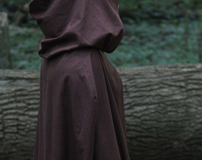 Hooded Cloak - Adult, Dark Brown