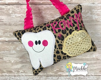 Little Flower Girl Hand Embroidered Tooth Fairy Pillows Made