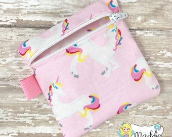 Unicorn Pacifier Pouch, Pacifier Pouch, Pacifier Pod, Pacifier Holder, Pacifier Clip, Baby Shower Gift, Diaper Bag Accessories, Baby Gift,