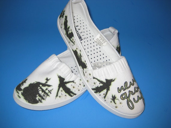 779f35fd7343 Disney Peter Pan Silhouette Shoes ARTWORK and SHOES INCLUDED