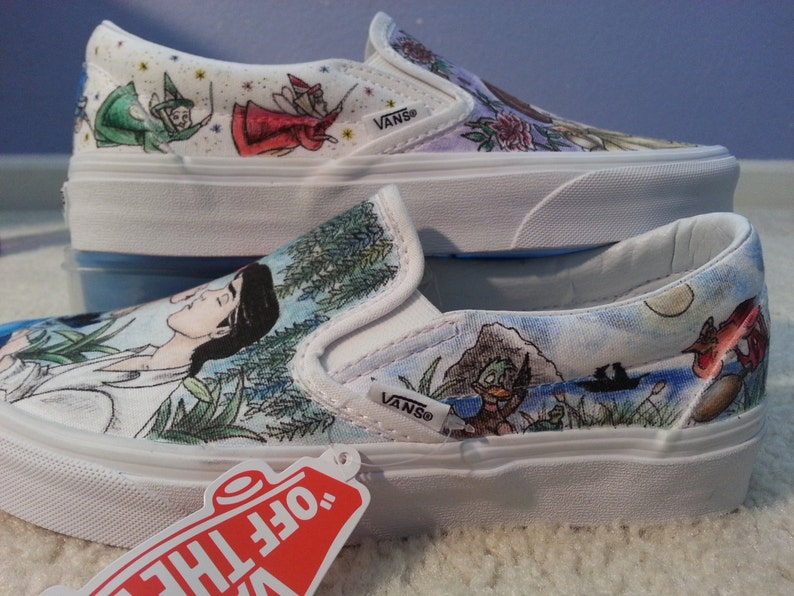 bf3d4c277a4 COLORED version of Sleeping Beauty and Little Mermaid custom