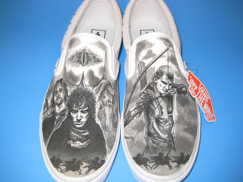 3b2af6ab743 Lord of the Rings Custom Made Shoes Featuring Legolas and