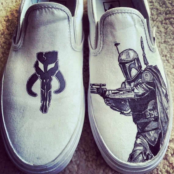 07ba63642722 Boba Fett and Mangolorian Symbol Vans ARTWORK and SHOES