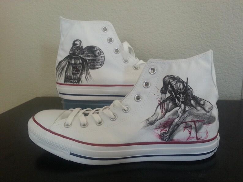 40367b257db8 Xmen Wolverine Origins and Darth Vader Star Wars themed shoes