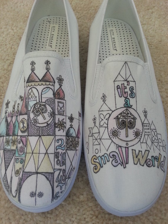 It's A Small World Disneyland Custom made Shoes ARTWORK and SHOES INCLUDED