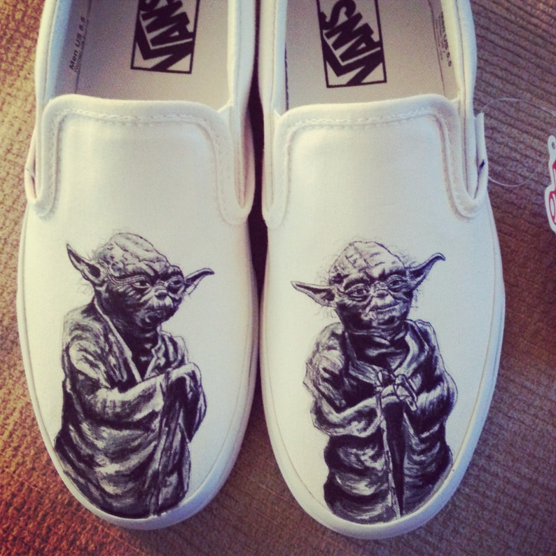 e68fa3774206 Yoda Shoes ARTWORK and SHOES INCLUDED Vans
