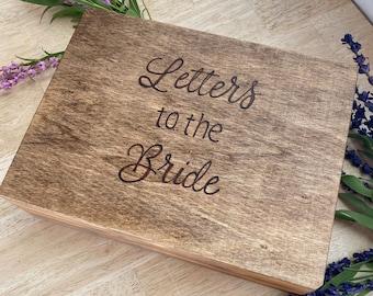 New Large Letters to the Bride, Bride box, Brides keepsake box