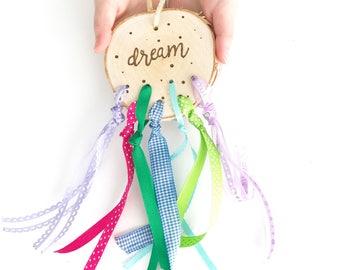 Dream Catcher, Wood Burned Dreamcatcher, Dreamcatcher, Wood Burned Dream Catcher, Kids Dream Catcher, Kids Decor, Girls Room, Gift for Girls