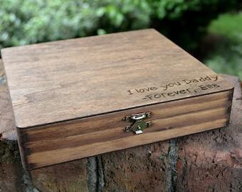 Cigar Box/Letter Box/Keepsake for Dad