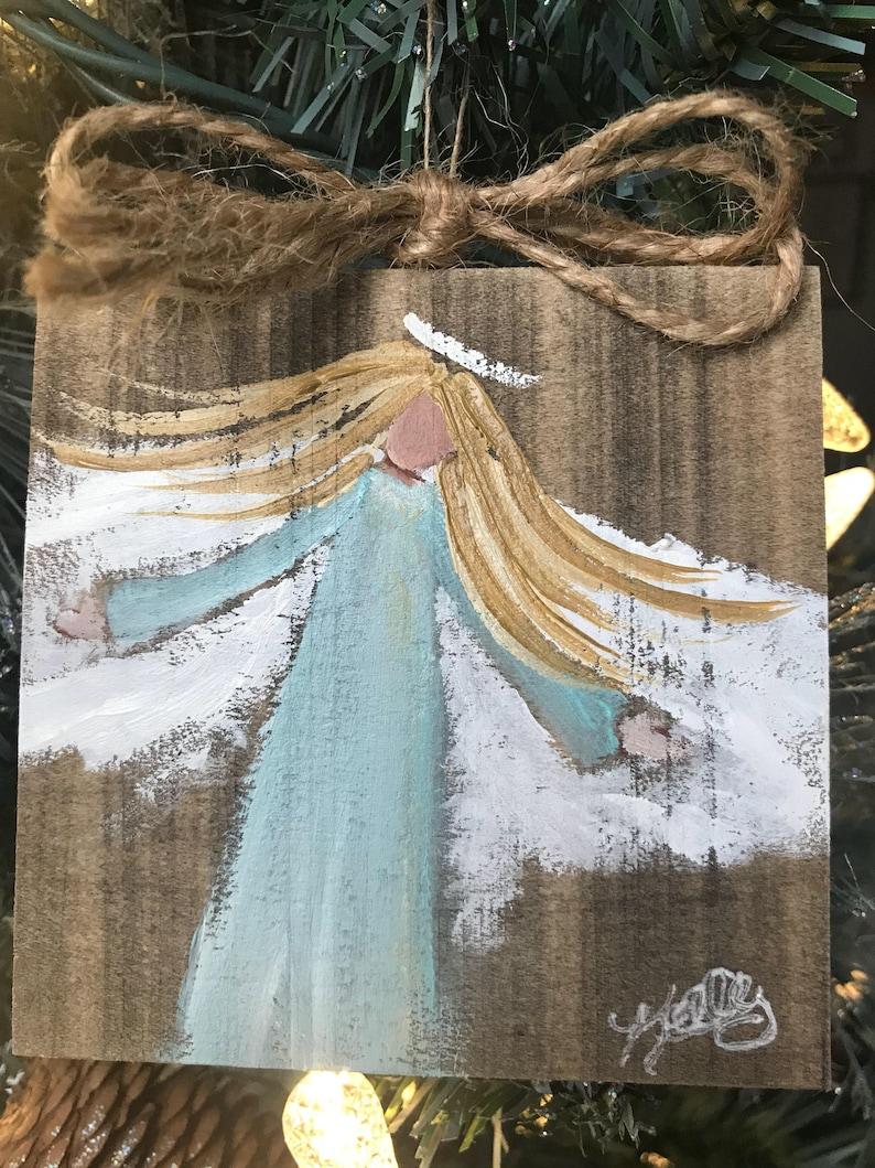 sisters custom angel christmas ornament PERSONALIZED ANGEL ORNAMENT Choose hair dress color skin primitive best friends