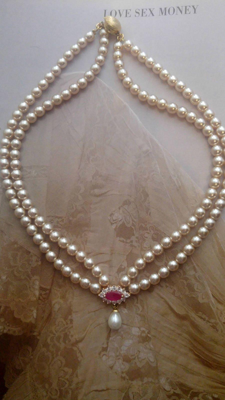 0e82465cf719d0 Biżuteria perły naszyjnik kropla perła naszyjnik kryształowy   Etsy