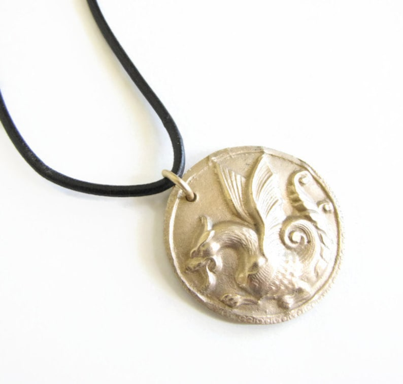 Dragon Necklace  As seen on The Originals  Unisex  Dragon image 0