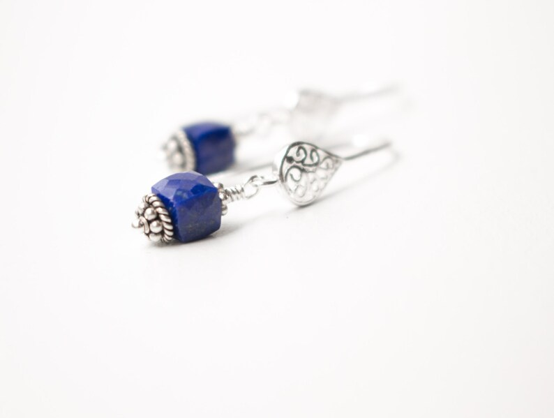 Lapis Lazuli earrings  Sterling Silver Lapis Lazuli earrings image 0