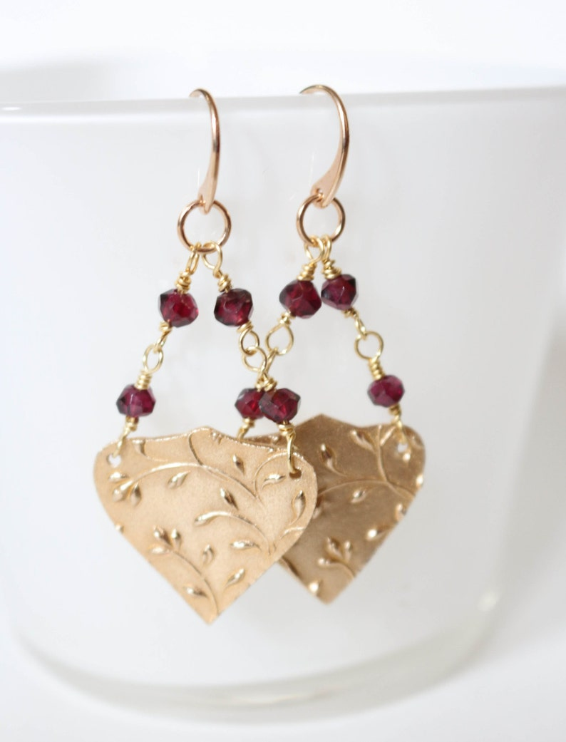 As Seen on TV TVD  Golden Garnet earrings  As seen on image 0