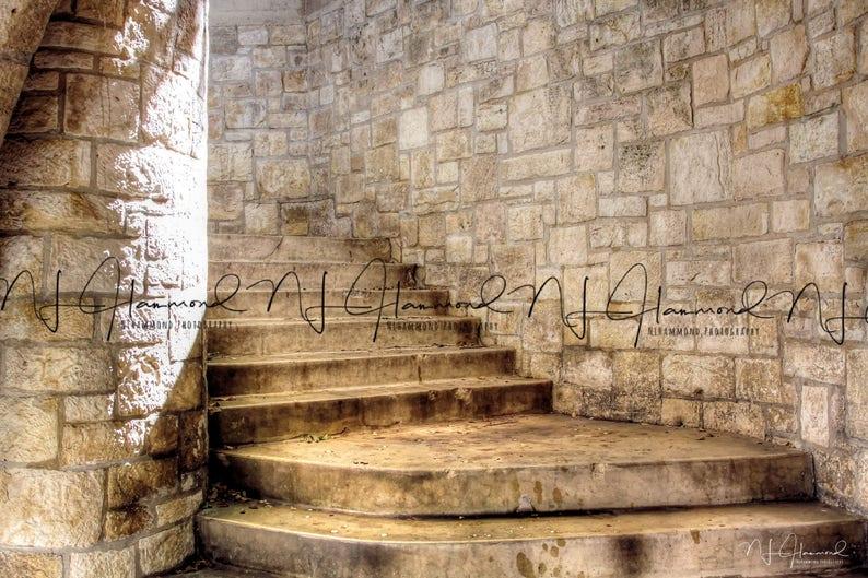 Stone Stairs digital steps digital wedding background princess image 0