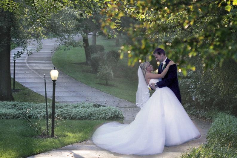 Park digital background wedding background summer path image 0