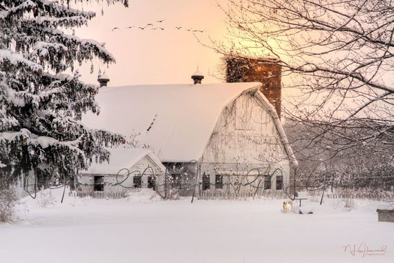 winter barn digital print barn background farm background Christmas Background Christmas digital backdrop winter backdrop barn backdrop