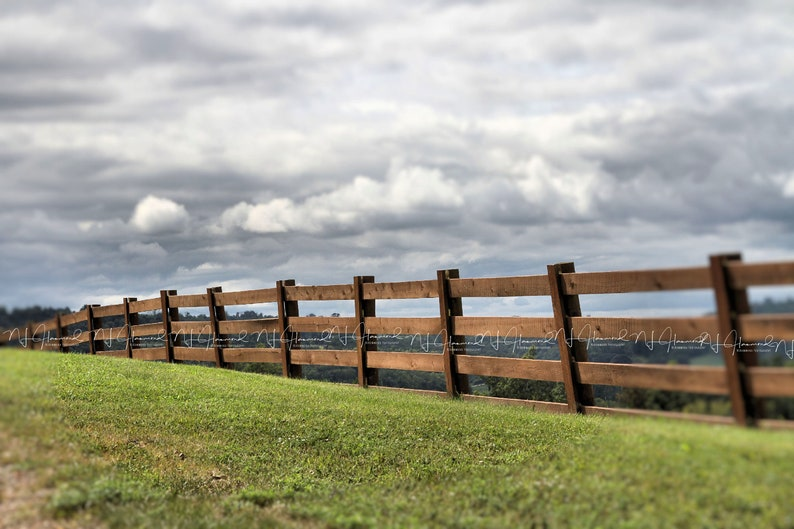 Summer or Fall fence digital background country digital image 0