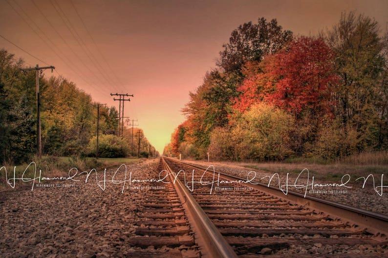 Fall background Digital railroad Background Tracks background image 0