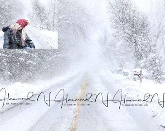 Winter Digital Background winter background snow digital wedding background road digital photoshop backgrounds path background winter backd