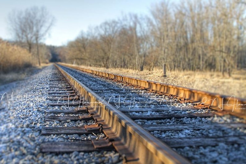 Railroad digital backdrop Background Fall Railroad backdrop image 0