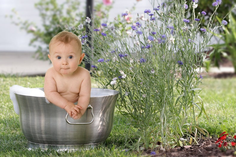 Baby tub digital background baby bubbles background summer image 0