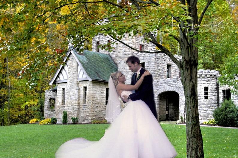 Castle Fairytale Princess digital background fall background image 0