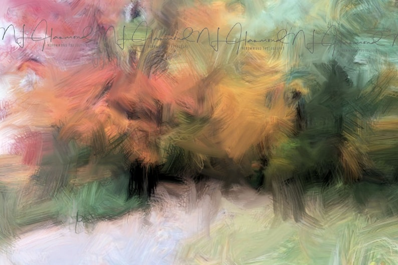 Landscape Print Digital Print Oil Painting Abstract Print Fine image 0