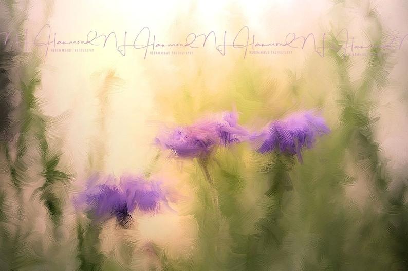 Purple Flower Print Oil Painting Print Floral Print Fine art image 0