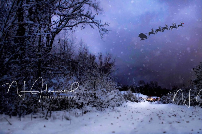 Christmas background digital winter background digital set image 0