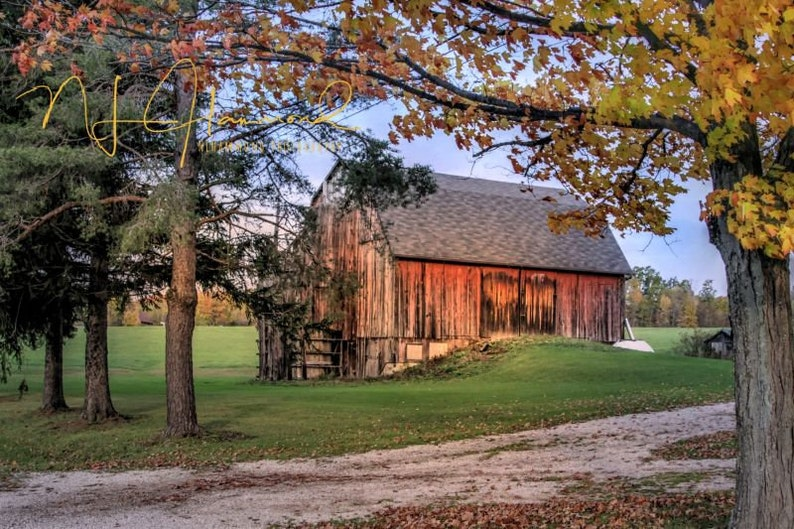 barn digital background fall digital backdrops country image 0