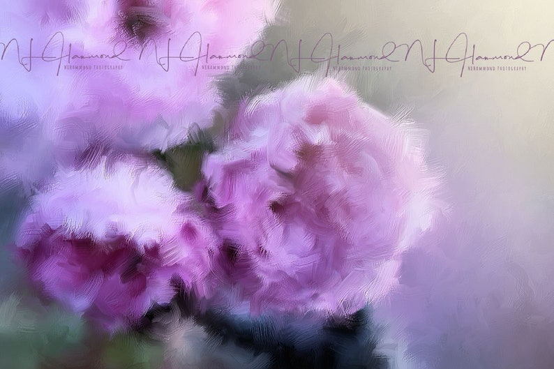 Purple Flower Print Oil Painting Print Fine Art Printable image 0