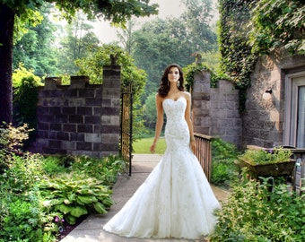wedding background Path digital background Summer stone wall gate background wedding background princess background fairytale photoshop