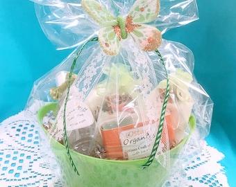 cucumber spa gift set cucumber melon bath gift set gift for her cucumber spa gift bridal shower gift bath gift set spa gift basket