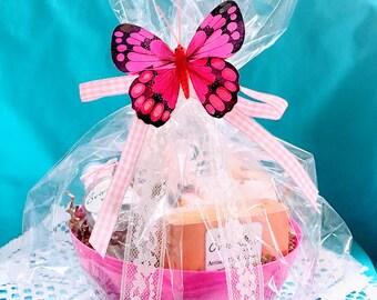 honeysuckle spa gift honeysuckle spa basket spa gift set pamper gift set beauty gift basket bridal shower gift gift for her bath set