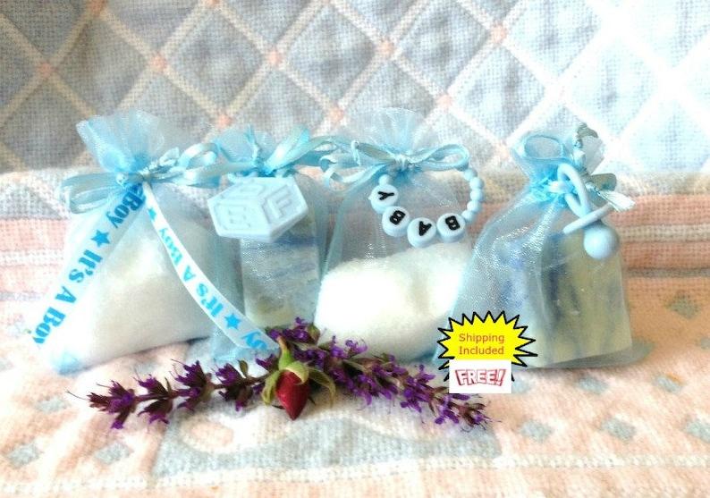 Custom Soap Favor 25 Baby Shower Favor Blue Baby Favor Bath Salts Favors Custom Baby Favor Baby Boy Baby Boy Favors Blue Custom Favor