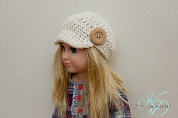 The Chloe Hat Crochet Pattern American Girl Doll Crochet Etsy