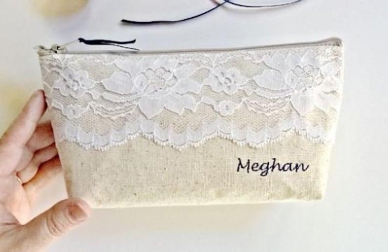 Wedding Lace Bridesmaid Clutches Bridesmaids Gift Lace Set of 7 Cotton Fall Wedding Bridesmaid Clutch Purse