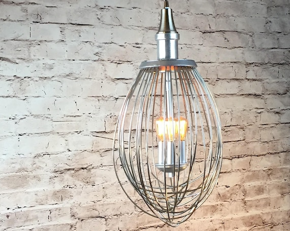 Industrial Hanging Lighting Whisk Pendant Light