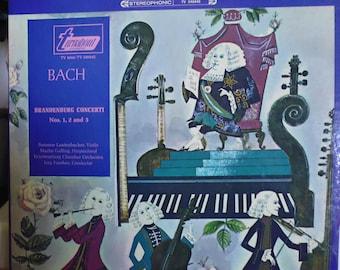 Bach Brandenburg Concerti, Wurttemberg Chamber Orchestra, Jorg Faerber, classical music, vinyl record, Susanne Lautenbacher, Martin Galling