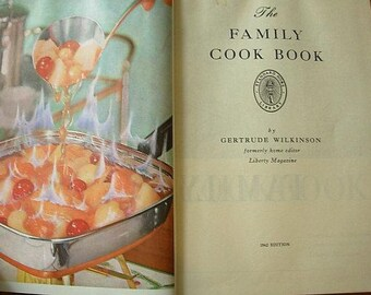 The Family Cookbook, Standard Home Library, 1962, Gertrude Wilkinson, beginners cookbook, 1960s cookbook, basic cookbook, retro cookbook