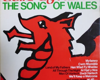 Can Cymru The Song of Wales, vinyl record, Welsh songs, Land of my Fathers, Welsh anthem, Penillion Singing, Hogia'r Wyddfa, Nant y Mnydd