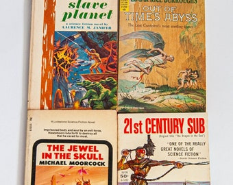 21st Century Sub 1956 / The Jewel in the Skull 1967 / Out of Time's Abyss Edgar Rice Burroughs 1963 / Slave Planet Laurence M. Janifer 1963