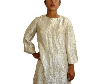 60s Jacquard Dress S