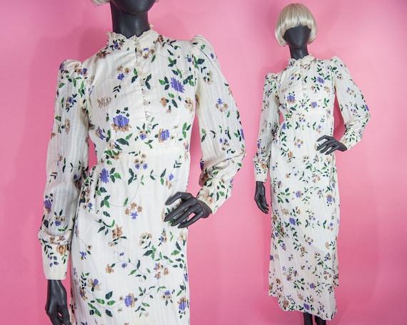 70s Prairie Goddess Dress XS / S