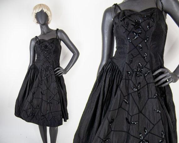 50s Fred Perlberg Sequin Swing Dress XS / S