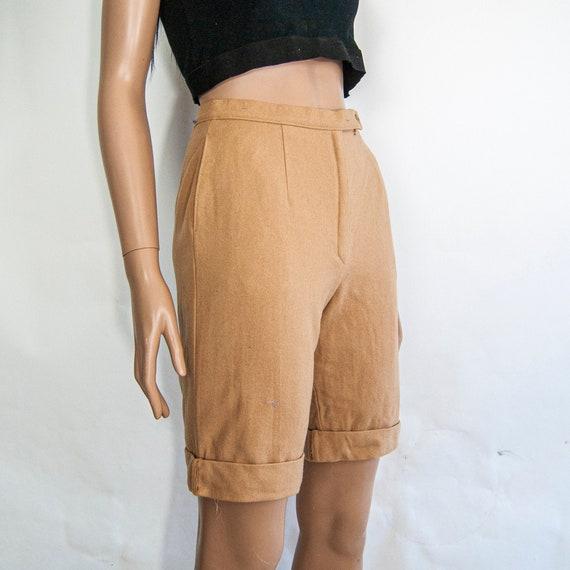 80s High Waist Wool Shorts 10 S 25 / Pendleton Wo… - image 1