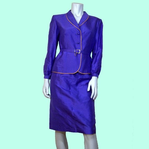 80s Purple Power Suit S